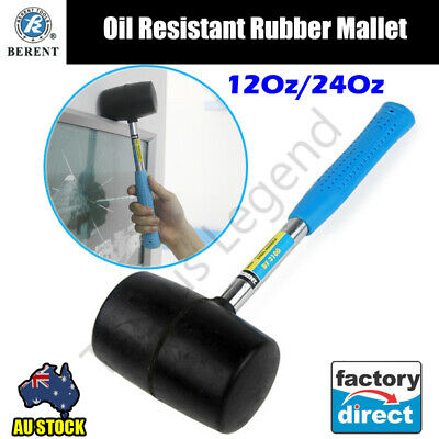 Soft Faced Rubber Hammer Mallet With Steel Tubular Handle - 3 Sizes Available