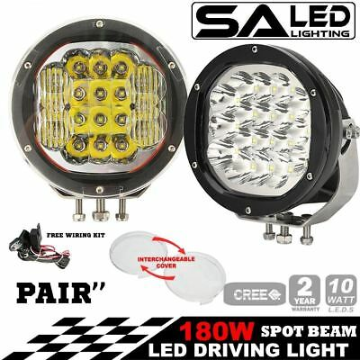 "2x 7"" inch 180W CREE LED Work Light Driving Spot Combo 4x4 better than hid / bar"