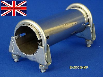 """Exhaust Sleeve Adapter Connector Pipe Stainless Tube 58mm (2.1/4"""") I.D. EAS004"""