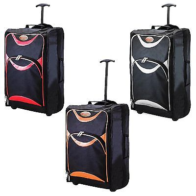 Lightweight Wheeled Cabin Travel Bag Suitcase  Hand Luggage Trolley Holdall Hum3