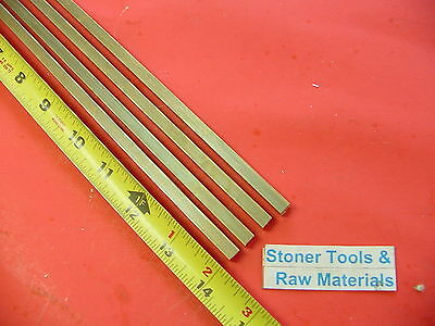 "4 Pieces 1/4"" x 1/4"" C360 BRASS SQUARE BAR 14"" long Solid .25"" Mill Stock H02"