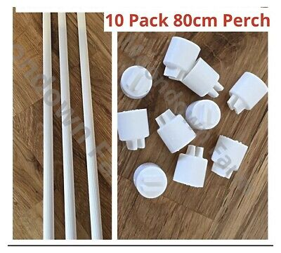 10 x 1mtr Length PLASTIC PERCH 10mm for CAGE FRONT/AVIARY FINCHES Bird Perches