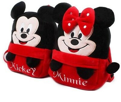 Free shipping 1 pc. Red mouse plush cartoon Kid Bag Backpack baby children bag