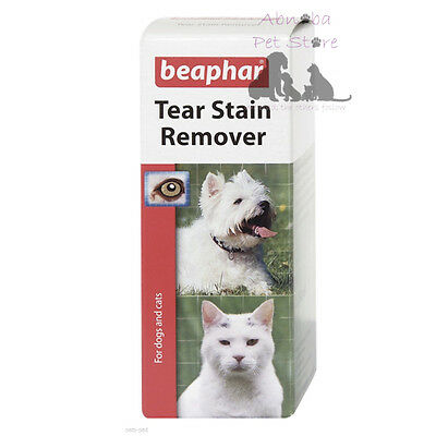 Beaphar Tear Stain Remover unsightly Fur stains Dog Pup Cat Eyes Westies Bulldog