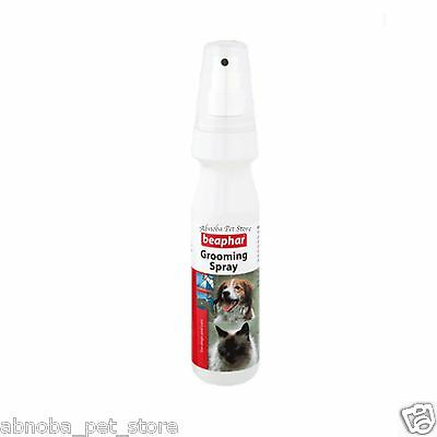 Beaphar Grooming Spray Dog Cat 150ml Tangle Free Dog Cat Contains Almond Oil