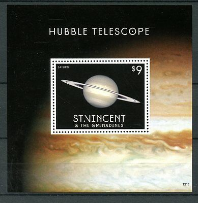 St Vincent Grenadines 2013 MNH Hubble Telescope II 1v S/S Saturn Planets Space