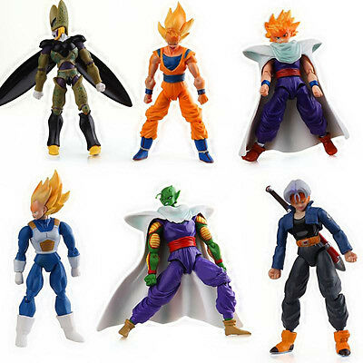 Dragonball Z Set of 6x 4'' Action Figures PVC Model Removable Dolls Toys Gift