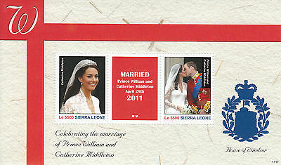 Sierra Leone 2011 MNH Royal Wedding 2v S/S II Marriage Kate Prince William