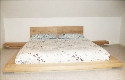 Chunky Wood 'The Mia Bed' Single Double King Super Bed Frame