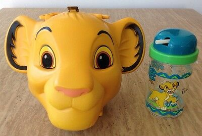 Disney Lion King SIMBA Lunchbox Tote Case Handle Thermos Cup Aladdin Complete