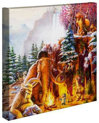 Thomas Kinkade ICE AGE - 14″ x 14″ Gallery Wrapped Canvas (Right Panel Only)