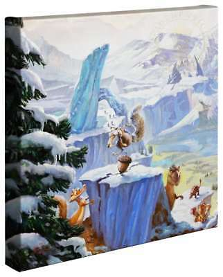 Thomas Kinkade Ice Age 14 x 14 Gallery Wrapped Canvas (Left Panel Only)