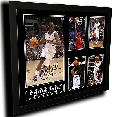 Chris Paul La Clippers Signed Limited Edition Framed Memorabilia