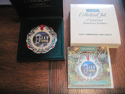 2-Longaberger Hometown Christmas  Ornaments Collectors Club 1997-1998