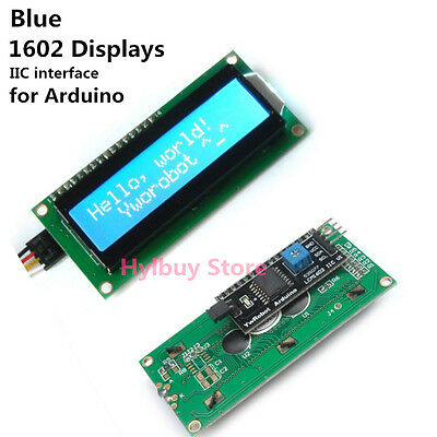 Arduino IIC/I2C/TWI DC 5v 162 16X2 1602 Displays Serial Blue LCD Module Screen