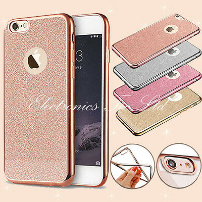New Bling Silicone Glitter ShockProof Case Cover For Apple iPhone 6 6S 7 Plus