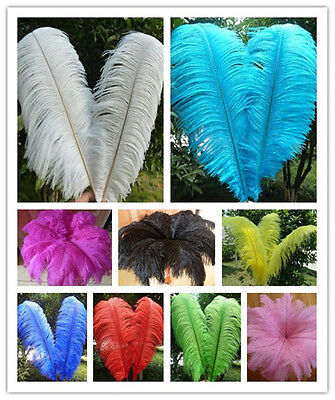 Wholesale 10-200pcs High Quality Natural Ostrich Feathers 6-16inches / 15-40cm
