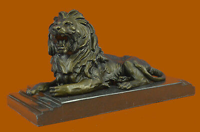 Bronze Sculpture Home Decoration Detailed Lion Figurine Figure Artwork Decor Art