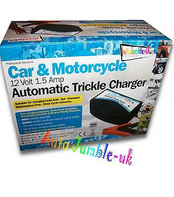 Car 12v battery charger trickle charge for STORAGE automatic cut out DEEP cycle