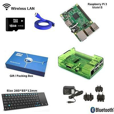 Raspberry Pi 3 Model B Complete Starter Kit with Mini Wireless Keyboard - Green