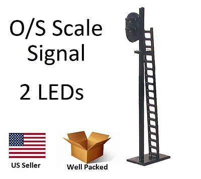 1 New O or S Scale Model Railroad 2 LED Train Signal Traffic Crossing