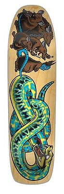 Santa Cruz Jeff Kendall SNAKE 2 Skateboard Deck NATURAL