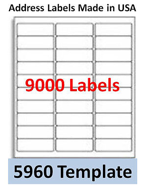 """15000 Economy Laser/Ink Jet Address Labels 30up, 2 5/8"""" x 1"""", Comp. with # 5960"""