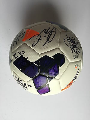 Hull City Fc  2013/14 Squad Signed Football 12 Autographs.