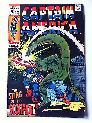 CAPTAIN AMERICA 122 Marvel 1970 Cap Vs The Scorpion (FN+)