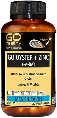 Oyster & Zinc Mens Healths 100% New Zealand Sourced Oyster for Vitality 120 caps