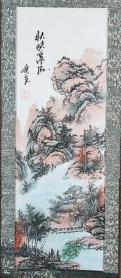 Chinese Hanging Scroll Landscape Signed