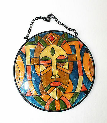 Stained Glass Wall Hanging Art Decor Sculpture