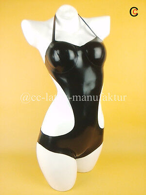 Made 2 Measure FREE Latex Bodies Womens Bodysuit Swimsuit Breast Cup