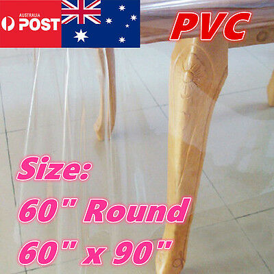 PVC Clear Table Cloth Protector Plastic Dining Picnic Camping Kitchen Dining Bar