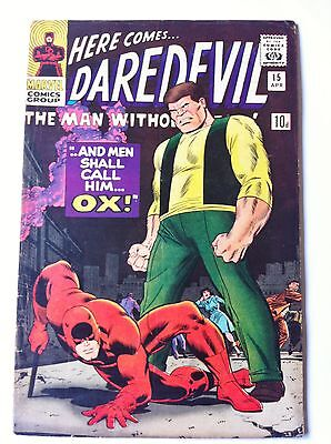 Daredevil 15 Marvel Silver Age 1966 Death of the Ox Key Silver Age VF-