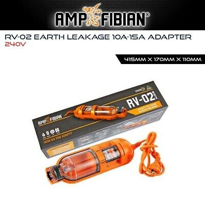 Ampfibian RV02 MAX 15A to 10A Adapter Converter Caravan RCD Protection 15 Amp 1