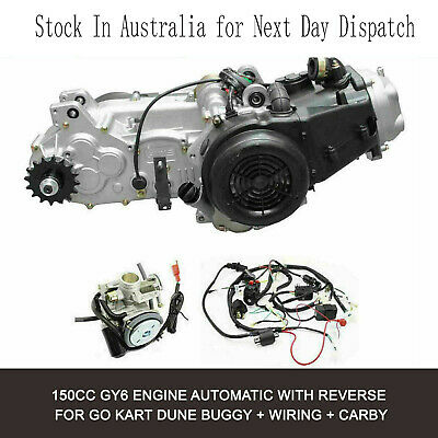 150CC GY6 ENGINE CVT Auto Clutch Buggy motor rampage kandi ... on