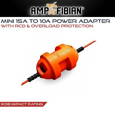 Ampfibian Mini 15A to 10A Converter / Adapter & RCD for Caravan RV 15 Amp 10 Amp