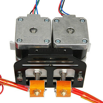 Geeetech Dual Metal MK8 extruder holder for Prusa I3 Pro C dual head 3D Printer
