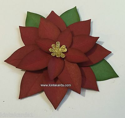 Stampin Up Festive Flower (Poinsettia) Punch Art Cardstock Kit - Makes 2