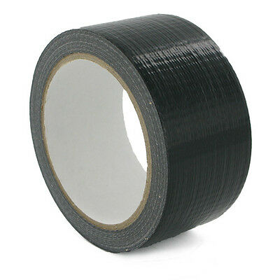 Duck BLACK strong Duct Gaffa Gaffer Waterproof Cloth Tape 48mm 2'' 50m quality