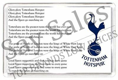 Tottenham Hotspur Spurs Fridge Magnet Fan Music Lyrics Football Gift Present