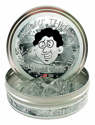 Crazy Aaron's Thinking Putty, CRYSTAL CLEAR - LIQUID GLASS, 10cm, Bouncy Putty