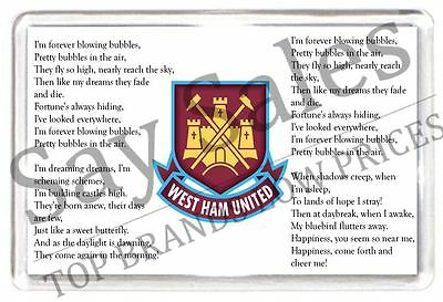 West Ham United I'm Forever Blowing Bubbles Fridge Magnet Football Gift Present