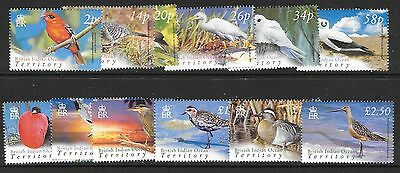 British Indian Ocean Terr Sg296/307 2004 Birds  Mnh