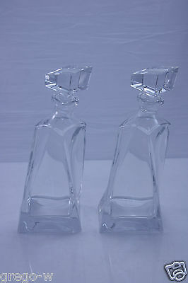 "Lot de 2 Carafes à Whisky en cristal  ""GERLACH"" Made in Poland"