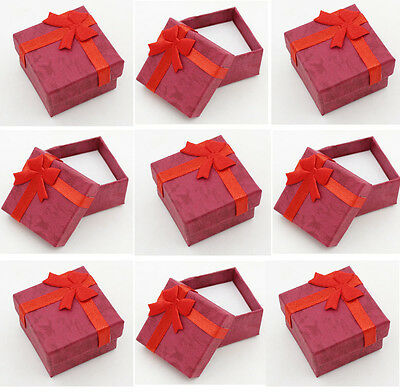 48pcs New fashion red Jewelry packaging box earring ring display Wholesale lot