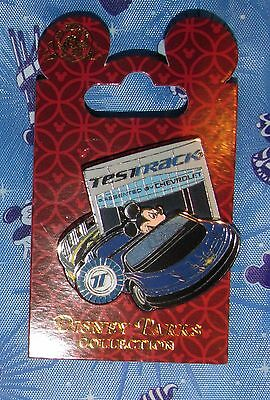 CARDED Disney Pin TEST TRACK MICKEY MOUSE NEW