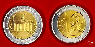 2 EURO Probe 2005 Deutschland - Berlin 2006 - Bi-Metall ca 12g 25mm