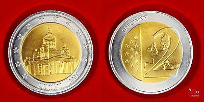2 EURO Probe 2001 Finnland - Bi-Metall ca 12g 25mm
